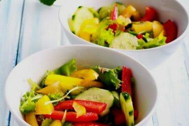 Asian Style Cucumber & Bell Pepper Kidney Diet Salad