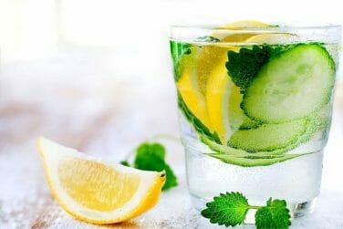 Homemade Lemon Cucumber kidney friendly Soda