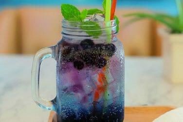 Iced Blueberry soda kidney friendly mix