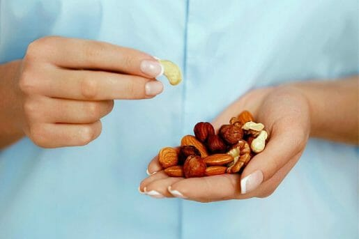 nuts in hands