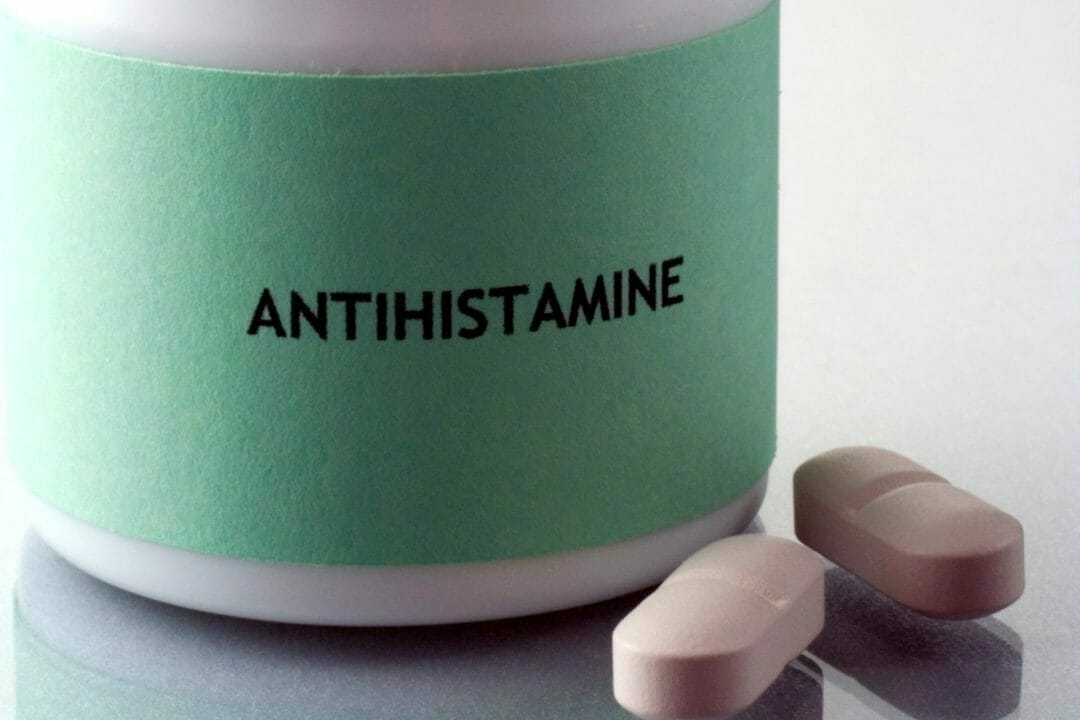 Taking oral antihistamines